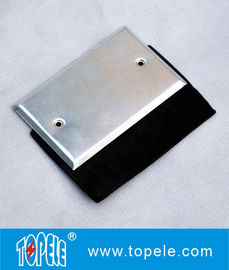 Flat One - gang Aluminum Stamped Cover , Weatherproof Electrical Outlet Boxes
