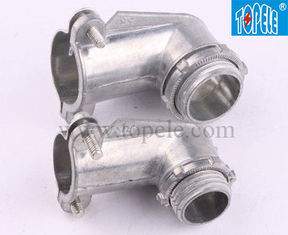90 Degree Metal Zinc Flexible Conduit And Fittings Squeeze Angle Connectors